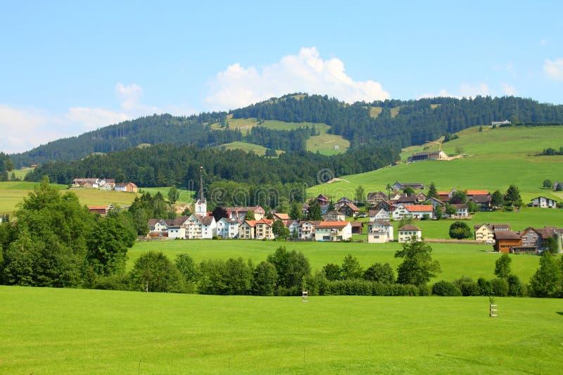 Platteland in Zwitserland royalty-vrije stock fotografie