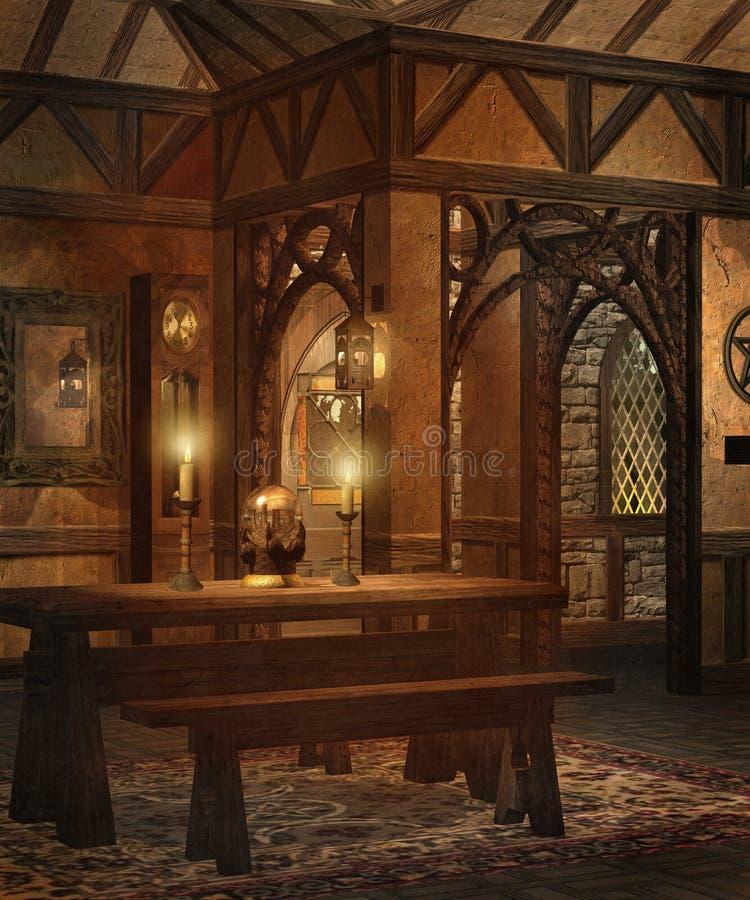 Plattelandshuisje 1 van de fantasie royalty-vrije illustratie