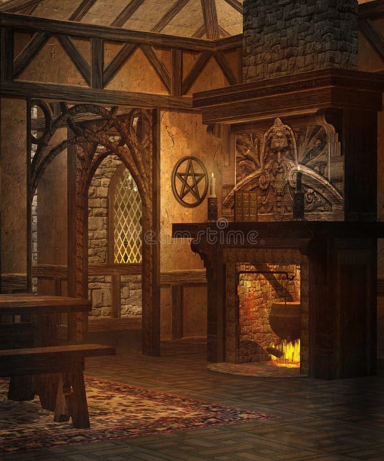 Plattelandshuisje 2 van de fantasie vector illustratie