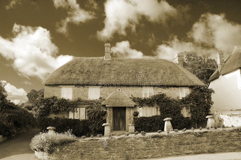 Plattelandshuisje in Dorset royalty-vrije stock foto
