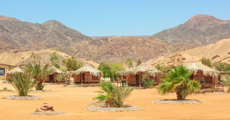 Plattelandshuisje in een Kamp in Sinai stock afbeelding