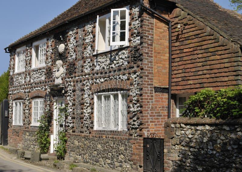 Plattelandshuisje in Shoreham. Kent. Engeland royalty-vrije stock afbeelding