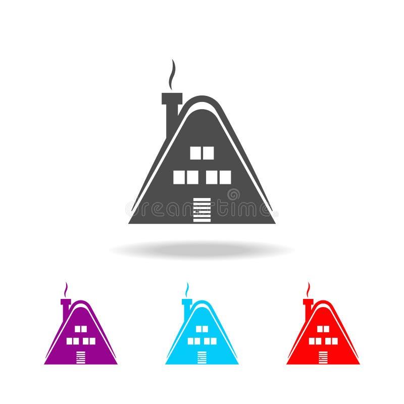 Plattelandshuisjepictogram Elementen van reis in multi gekleurde pictogrammen Grafisch het ontwerppictogram van de premiekwalitei stock illustratie
