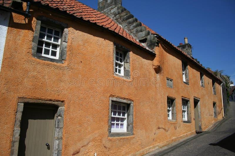 Plattelandshuisjes Culross, Fife stock afbeelding