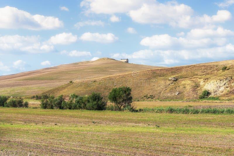 Plattelandslandschap in Val D ` Agri, Basilicata royalty-vrije stock foto's