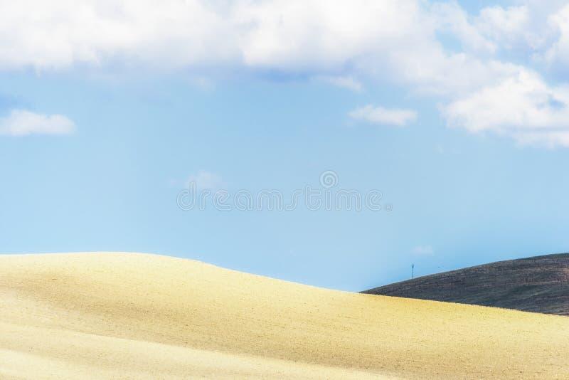 Plattelandslandschap in Val D ` Agri, Basilicata stock afbeelding