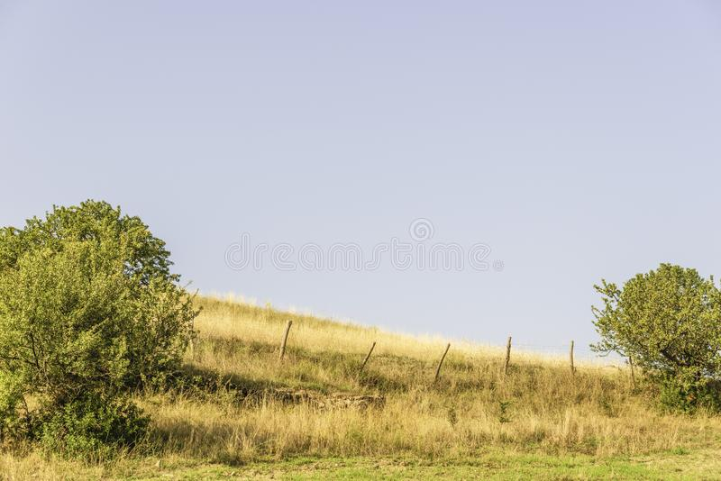 Plattelandslandschap in Val D ` Agri, Basilicata royalty-vrije stock foto