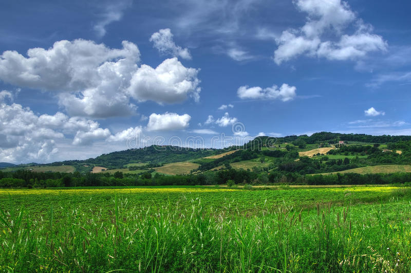 Plattelandsmening van Toscanië, Volterra, Italië stock foto's