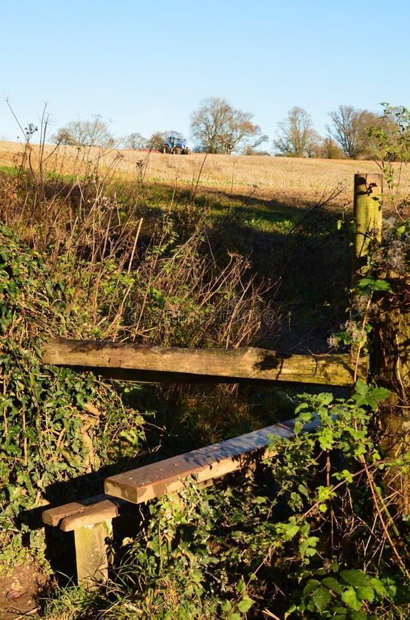 Plattelandspoort in Sussex, Engeland stock foto
