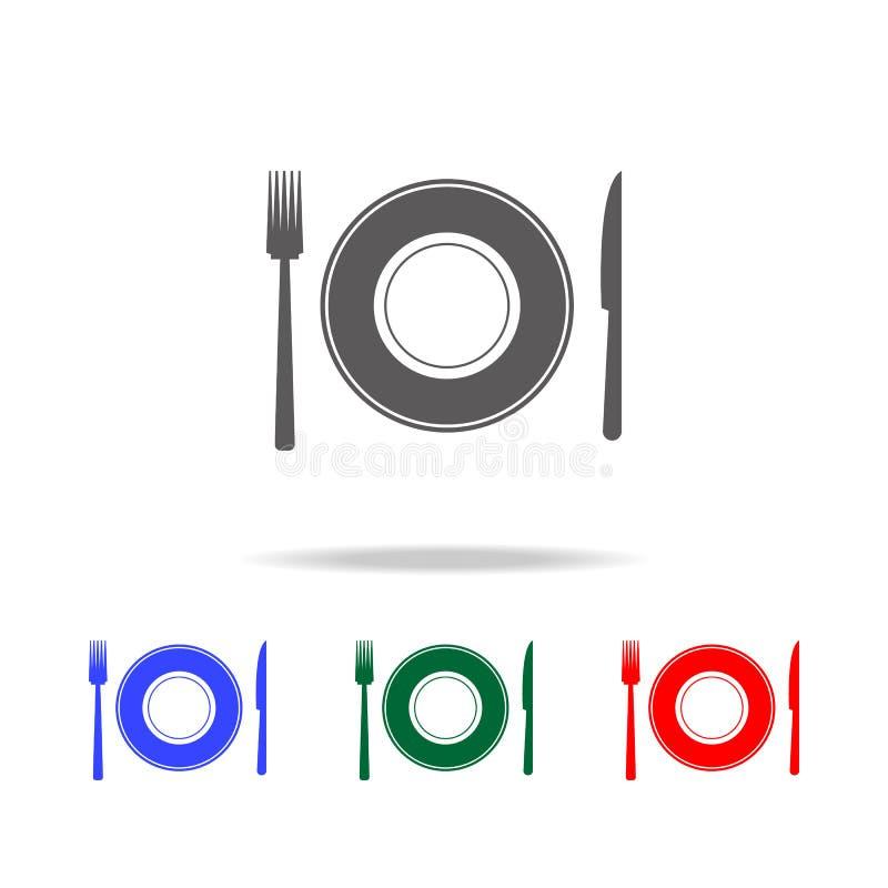 Platten- und Zubehörikonen Elemente der Hochzeit in den multi farbigen Ikonen Erstklassige Qualitätsgrafikdesignikone Einfache Ik vektor abbildung