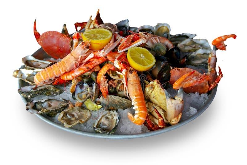 platter θαλασσινά στοκ εικόνες