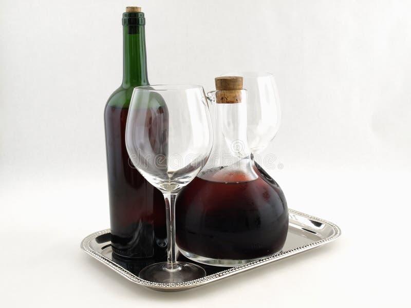 platter κόκκινα κρασιά στοκ φωτογραφίες