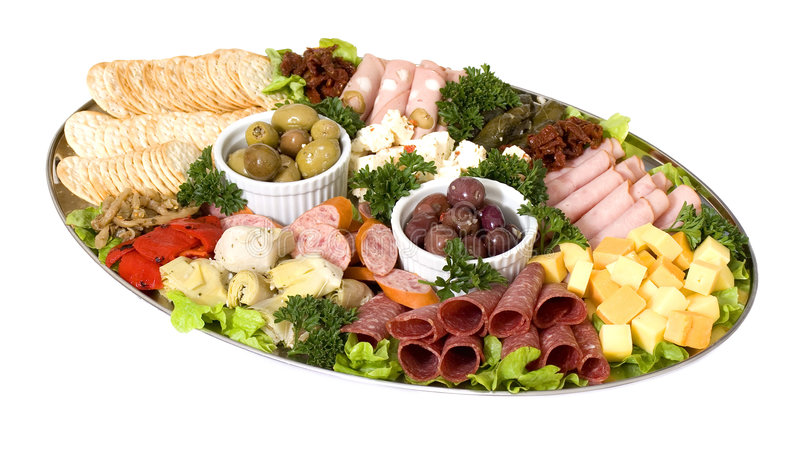 platter τομέα εστιάσεως antipasto στοκ φωτογραφία με δικαίωμα ελεύθερης χρήσης