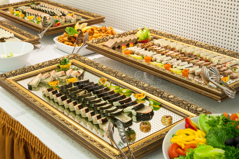 Platter τροφίμων τομέα εστιάσεως στοκ φωτογραφίες