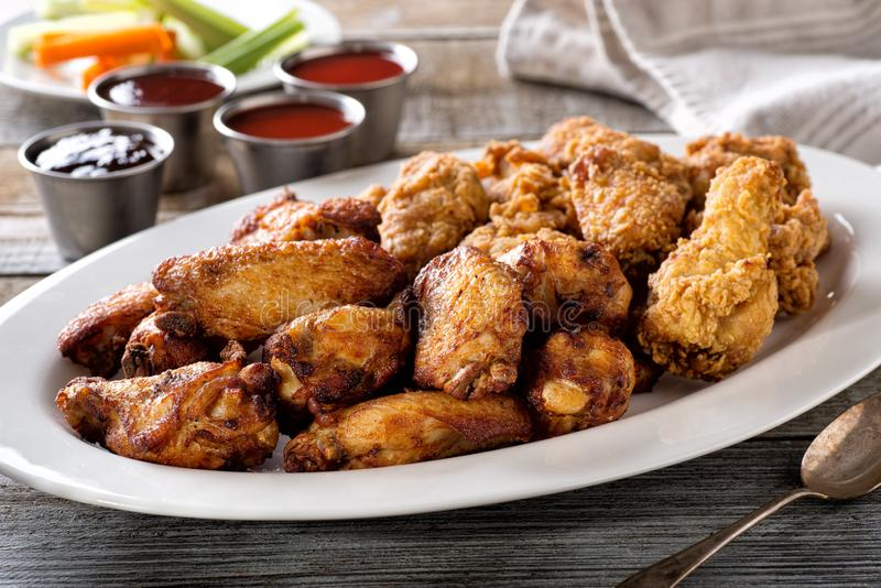 Chicken Wing Platter royalty free stock photos