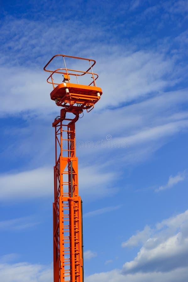 Plattform för hydraulisk elevator fotografering för bildbyråer
