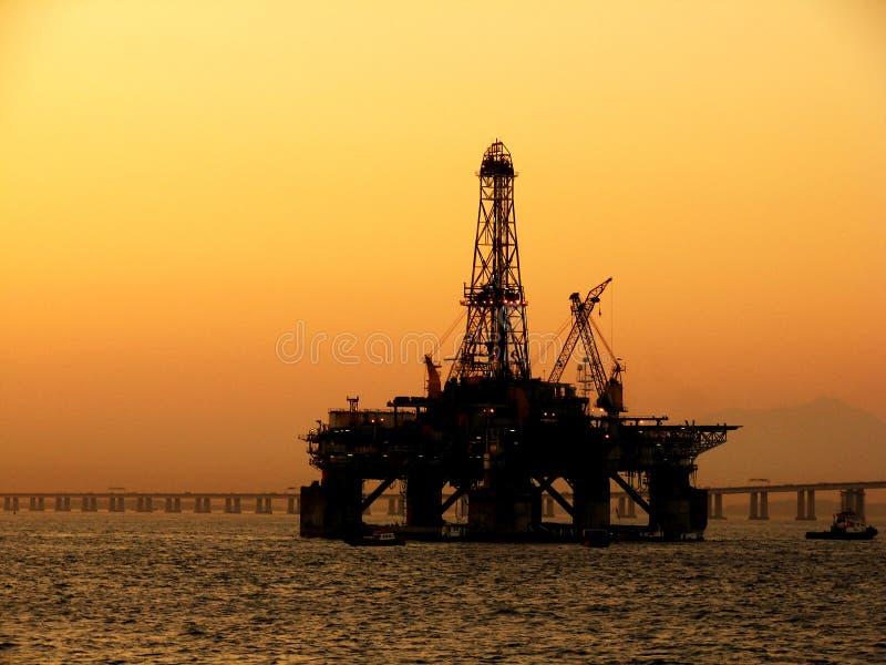 plattform för olja 3 arkivbilder