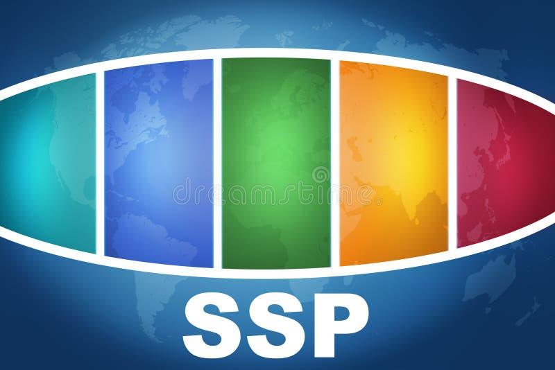 Plattform för tillförselsida stock illustrationer