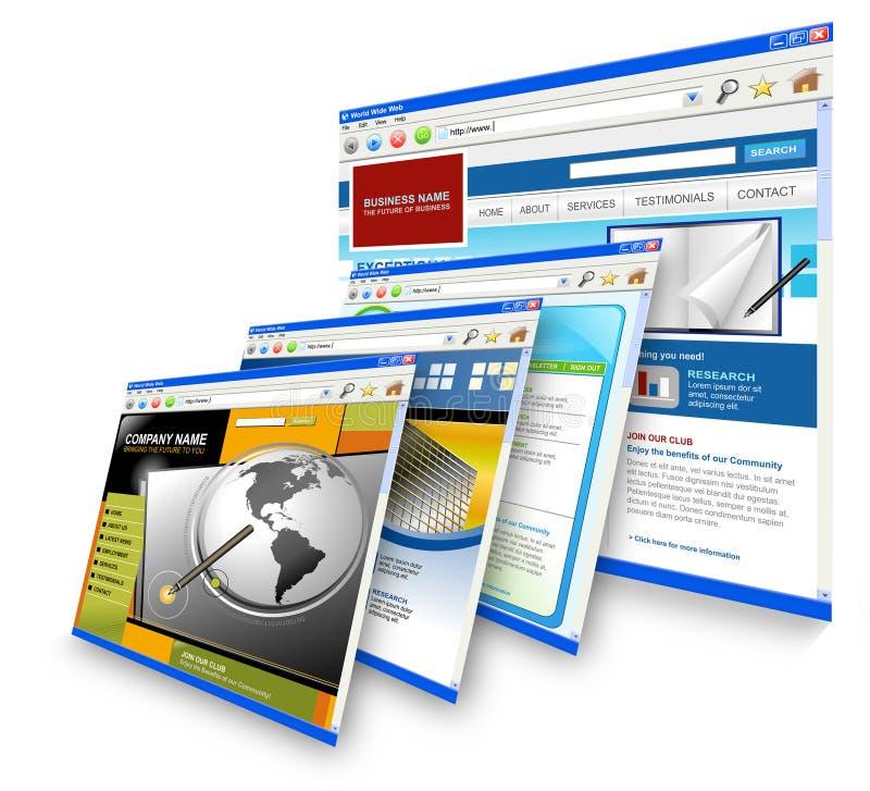 plattform teknologiwebsites för internet royaltyfri illustrationer