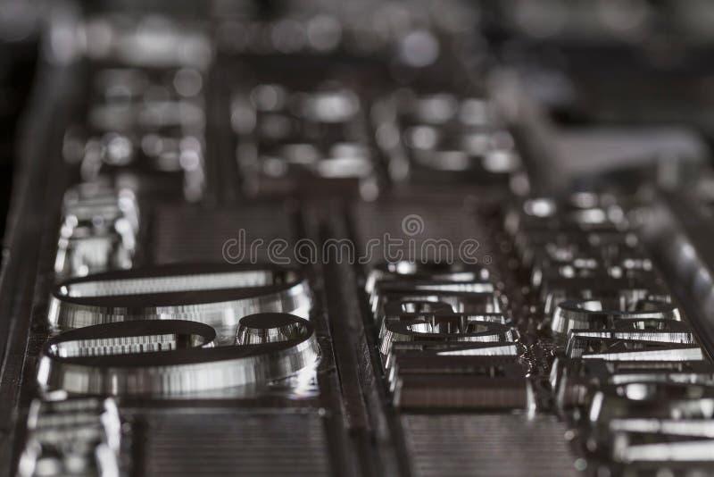 Plattor av aluminium för reproduktionen av utskrivavna material abstraktion royaltyfria foton