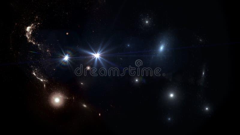 Plattor och galaxer, science fiction-bakgrundsmaterial Djuprymdens skönhet fotografering för bildbyråer