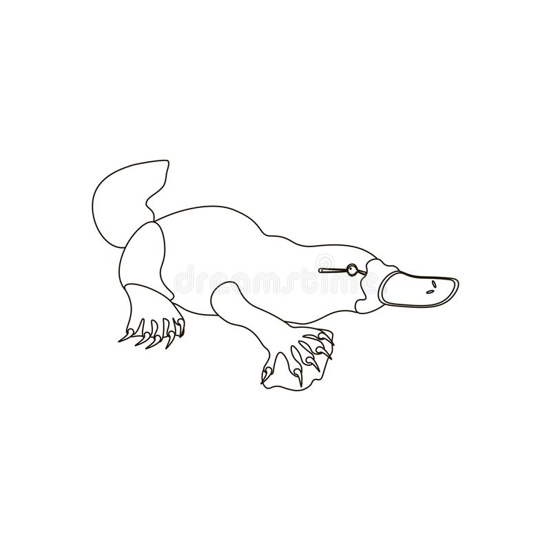Platypus coloring pages stock illustration. Illustration of wildlife ...