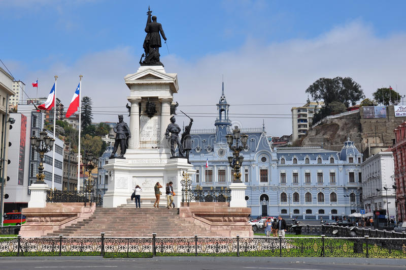 Platz Armadades Chiles in Valparaiso, Chile stockbilder