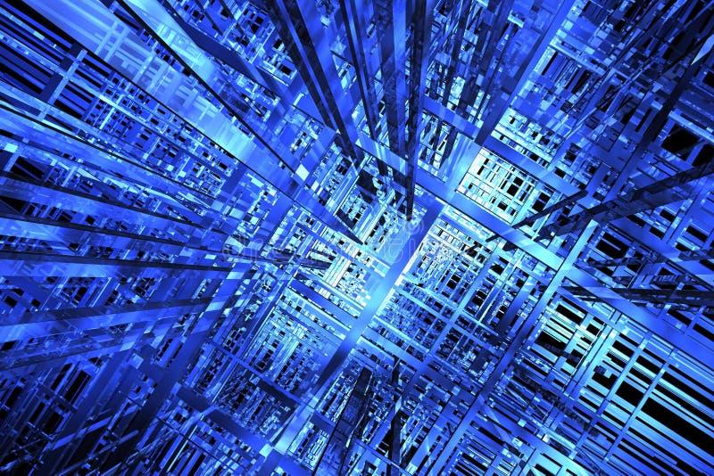 Platz des Blaus 3D lizenzfreie abbildung