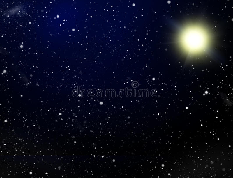 Platz. Eine Ansammlung der Sterne lizenzfreie abbildung
