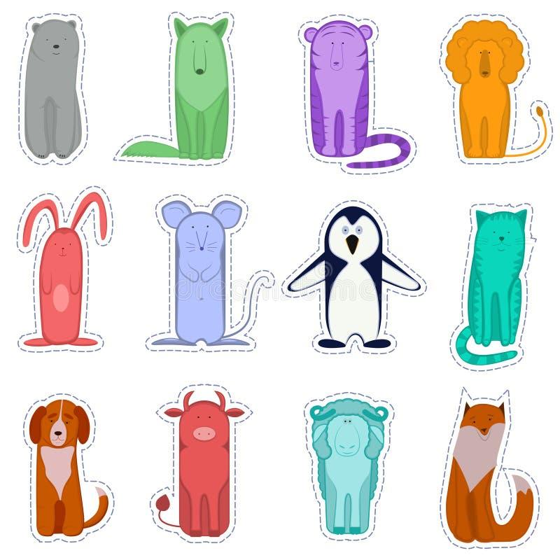Platz f?r Text oder Foto Vektor lokalisiertes Bild von lustigen Tieren stock abbildung