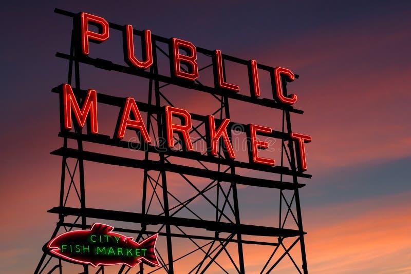 Platz-Markt Seattle-Pike lizenzfreie stockbilder