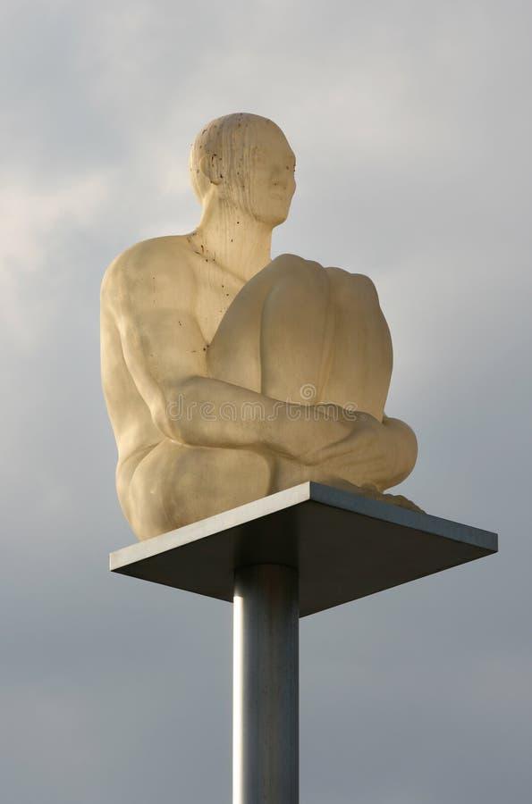 Platz Massena - Nizza Frankreich: die neuen Lampen lizenzfreie stockfotos