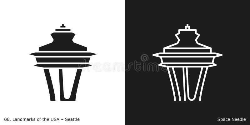 Platz-Nadel in Seattle vektor abbildung