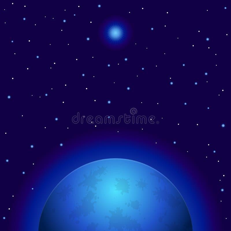 Platz, Planet und Stern stock abbildung