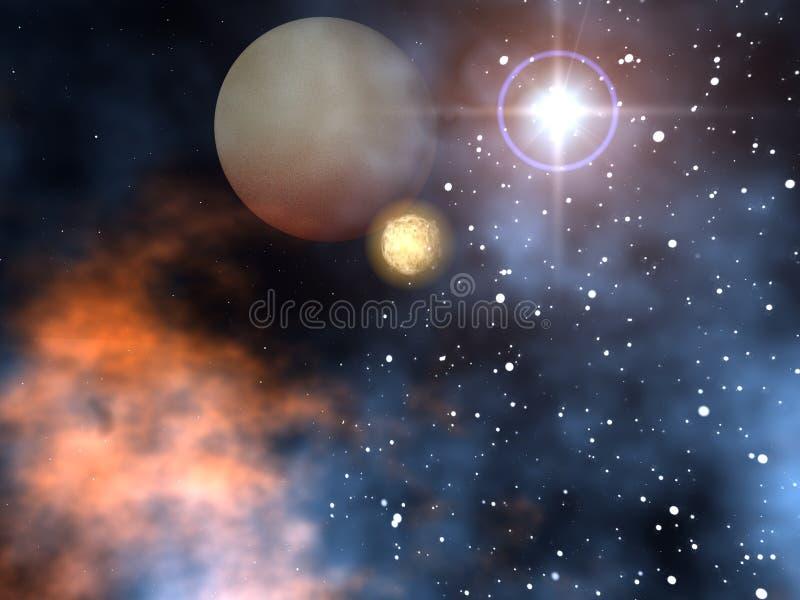 Platz-Planeten stock abbildung