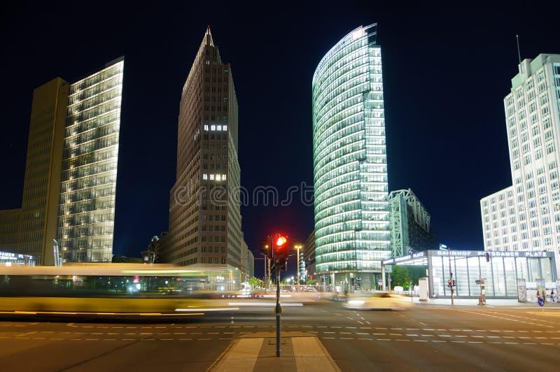 Platz potsdamer движения, berlin стоковое изображение