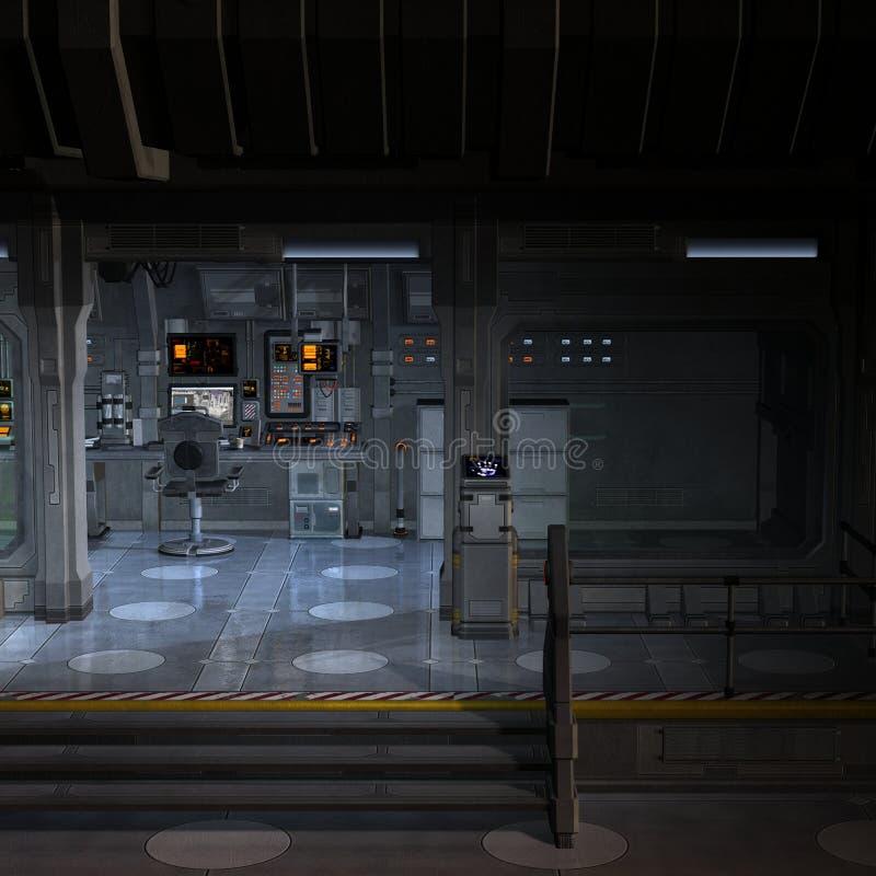 Platz Station-Innerhalb vektor abbildung
