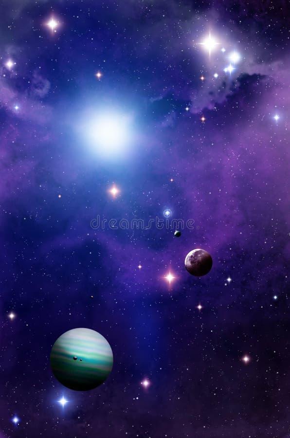 Platz und Planeten stock abbildung