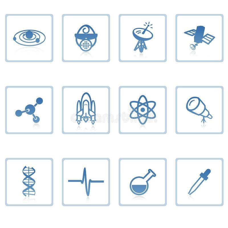 Platz- und Wissenschaftsikone I stock abbildung
