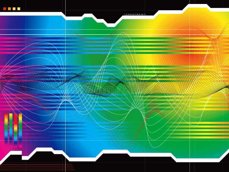 Platzaussichtregenbogen lizenzfreie abbildung
