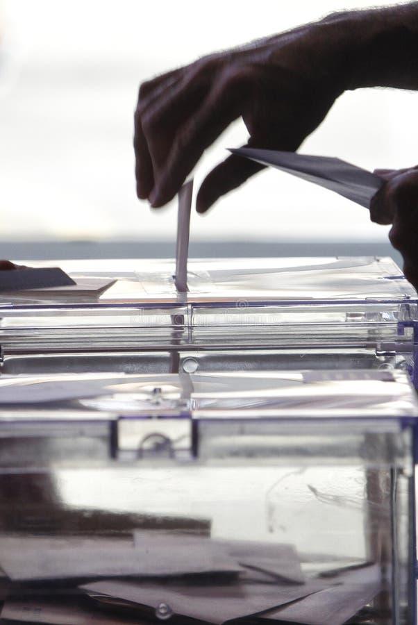 Platzierung von Abstimmung auf Wahlstimmzettel lizenzfreie stockfotografie