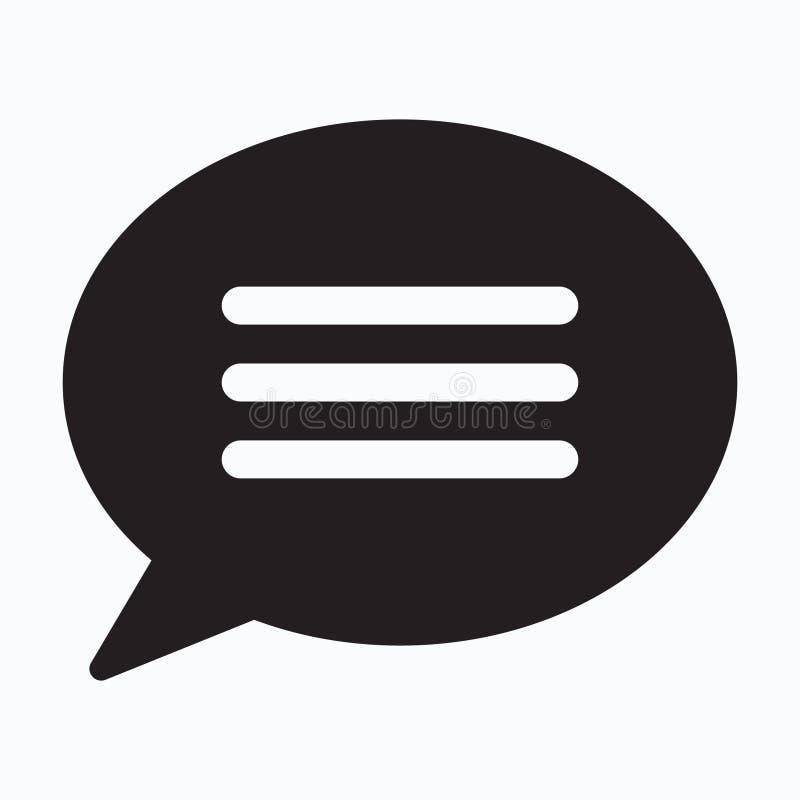 Plaudern Sie Ikone, sms Ikone, Spracheblasenikone lizenzfreie abbildung