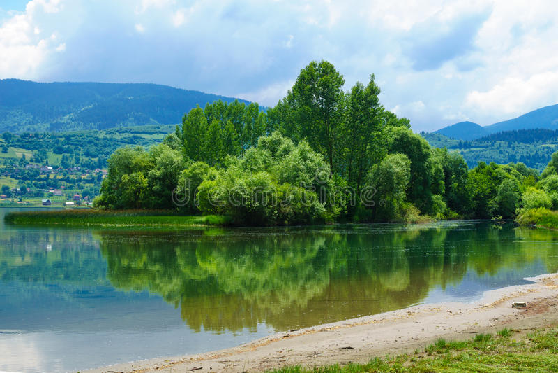 Plav jezioro zdjęcia stock