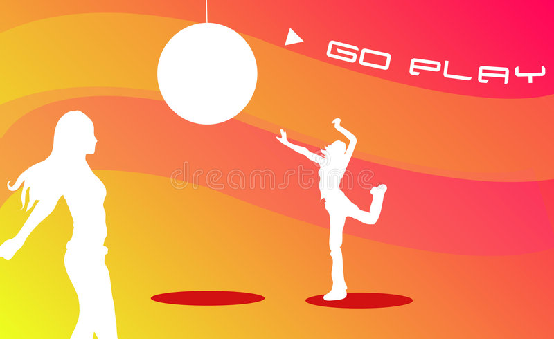 Download Play stock illustration. Illustration of girls, cool, funk - 462026