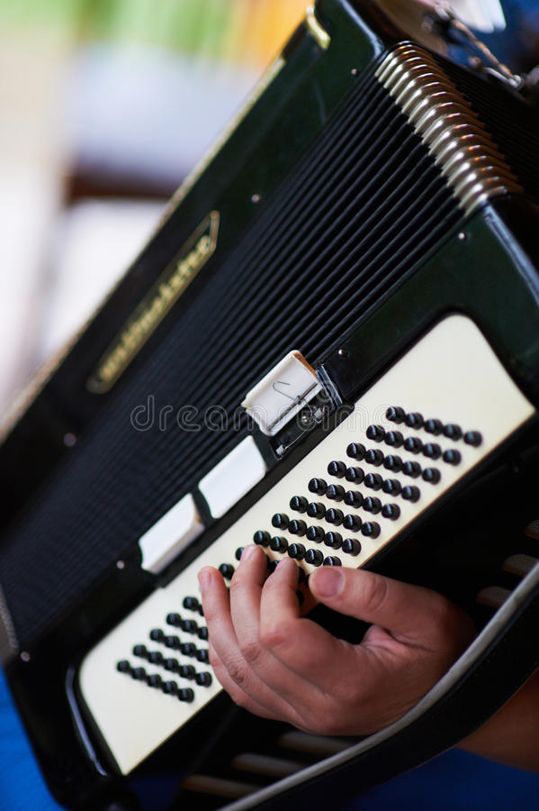 Play the accordion stock photography