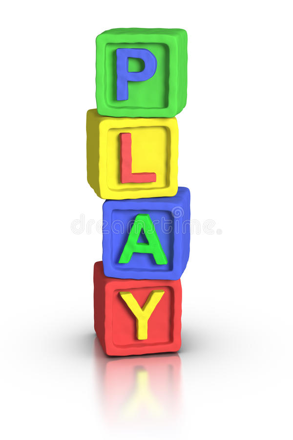 Download Play Blocks : PLAY stock illustration. Image of clay - 22665283