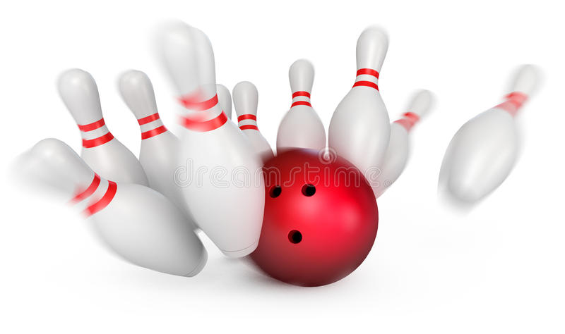 Download Play bowling stock illustration. Image of game, arrangement - 28300059