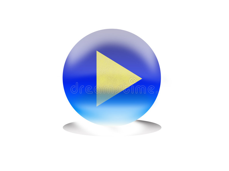 Download Play button stock illustration. Image of multimedia, graphic - 7135321