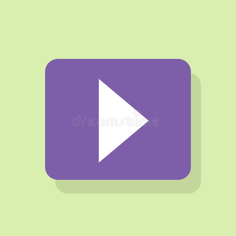 Play button icon flat design vector royalty free illustration