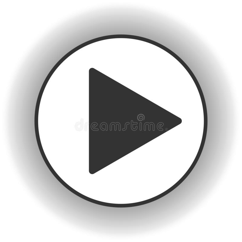 Play button icon. Music and video forward click shape symbol. Push arrow start player media. New EPS 10 Vector illustration vector illustration